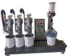 20L称重式灌装机、排气压盖机